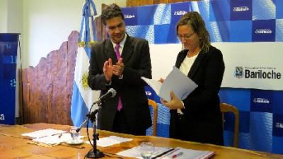 Capitanich y la Intendentaanunciaron obras para Bariloche