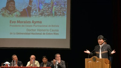 Morales dio cátedra frente a un masivo auditorio