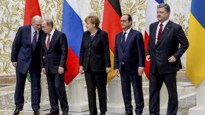 Líderes anunciaronel cese del fuego en Ucrania desde el 15 de febrero