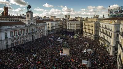 """El partido de los """"Indignados"""" ya es la segunda fuerza en España"""