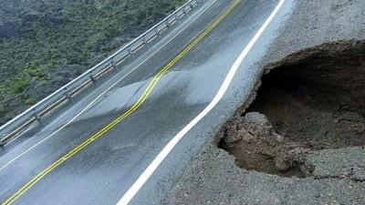 San Juan: La lluvia rompió la 150, que está intransitable