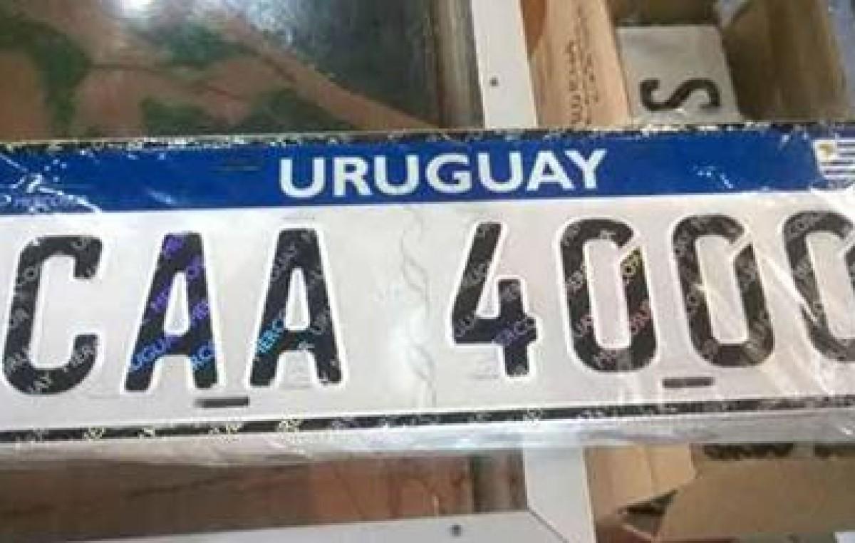 Algunas comunas de Uruguay ya entregan las nuevas matrículas del Mercosur