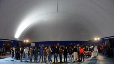 Lago Puelo inauguró la globa más grande del país