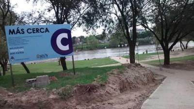 Llegará un 30% más de fondos de la Nación para tres obras en Villa Nueva