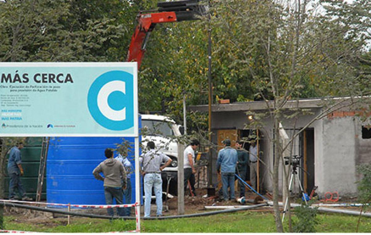 Se ejecutan más de 200 obras a través del Programa Más Cerca en Municipios Entrerrianos