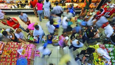 Ventas en súper crecieron 7,3% y en shoppings 3,8%