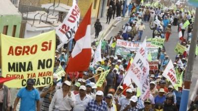 Dos muertos en huelga contra proyecto minero en el Perú