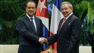 Hollande pidió en Cuba el fin de las sanciones contra la isla