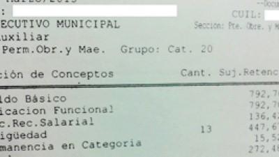 Sueldos de indigencia en Pirané: empleados municipales cobran un básico $792,70
