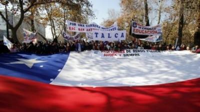 Colegio de profesores de Chile decide continuar con el paro indefinido