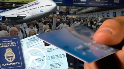 Fuerte alza del consumo de argentinos con tarjeta en el exterior