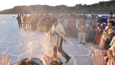 Bolivia recibio Nuevo Año Andino Amazónico 5523 en centro ritual de Incahuasi