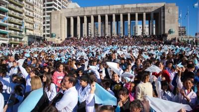 Santa Fe: Más de 20 mil chicos de toda la provincia prometieron lealtad a la Bandera