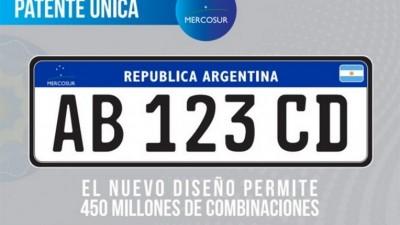 Nueva patente del Mercosur a un paso de ser ley