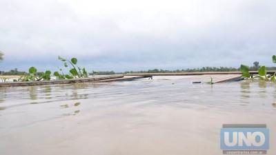 Prefectura Paraná advierte por avance de la crecida del río Paraná