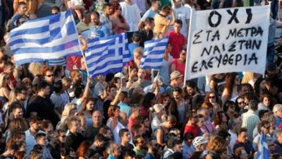 """Grecia le dijo """"No"""" al ajuste europeo"""