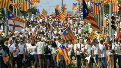 Miles de catalanes reiteraron su decisión de separarse de España