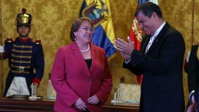Rafael Correa y Michelle Bachelet dan un nuevo impulso a la relación Chile-Ecuador