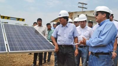 Morales inaugura planta de energía solar de 60 kilowatts en la localidad El Espino