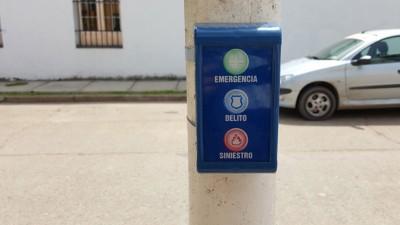 Comenzaron a instalarse Botones Antipánico en Nogoyá