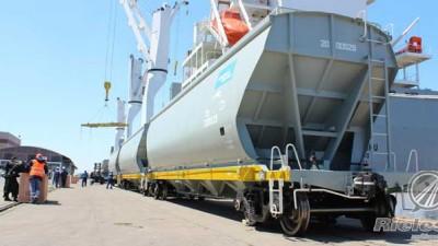 Recuperación de los trenes: arribaron al país 150 vagones de carga