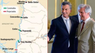 Planifican construir nuevos puentes entre Argentina y Uruguay