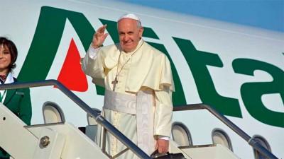 El Papa inicia su visita a México, previa escala en Cuba