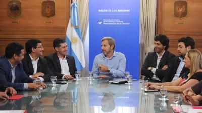 Gobernador de La Riojae intendentes del interior se reunieron con Rogelio Frigerio