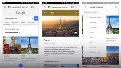 Google presentó un buscador que ayuda a planificar viajes desde el celular