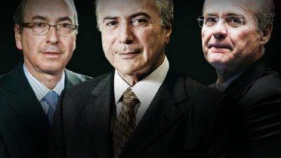 Tres corruptos en la línea de sucesión de Rousseff
