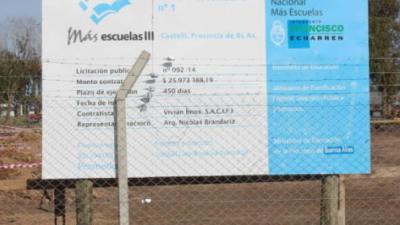 """""""Escuela cero"""": En Castelli denuncian que Macri congeló fondos para la construcción de un colegio secundario"""