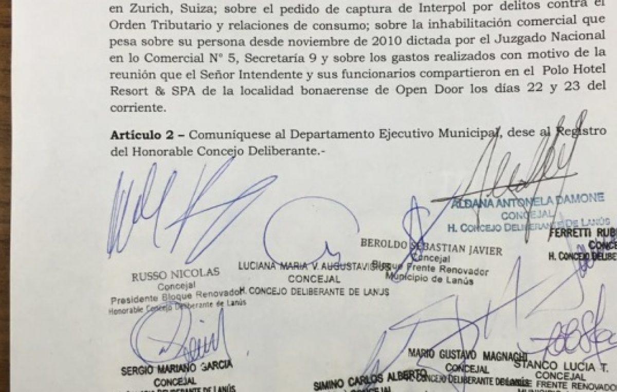 #PanamáPapers: la oposición tiene los números para que Grindetti vaya al Concejo