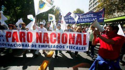 Sindicalistas chilenos llaman a paro el 31