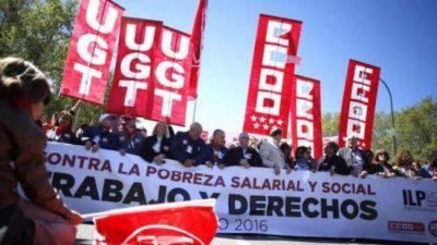 Hubo manifestaciones en todo el mundo por el Día del Trabajador