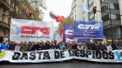 Las CTA marcharon en Plaza de Mayo y llamaron a «la unidad contra el ajuste»