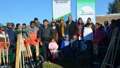 Villa Ángela: 20 familias recibieron herramientas que ayudarán a potenciar sus huertas comunitarias