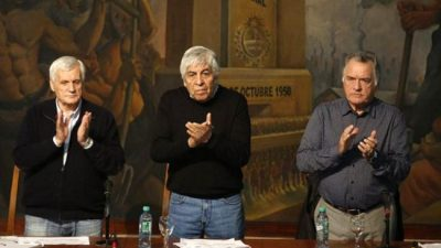 Los jefes sindicales ratifican que un triunvirato conducirá la CGT