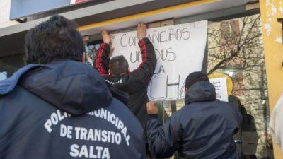 Huelga de hambre en la Subsecretaría de Tránsito de Salta
