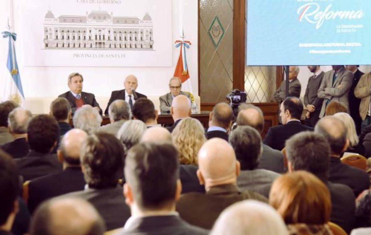Lifschitz abrió un proceso histórico para reformar la Constitución de Santa Fe