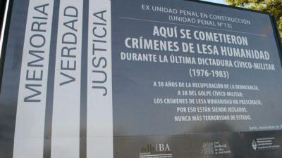 Reclaman a la Provincia de Buenos Aires adherir a la ley nacional para preservar Sitios de Memoria