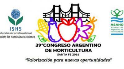 Santa Fe será sede del 39° Congreso Argentino de Horticultura del 16 al 29 de septiembre