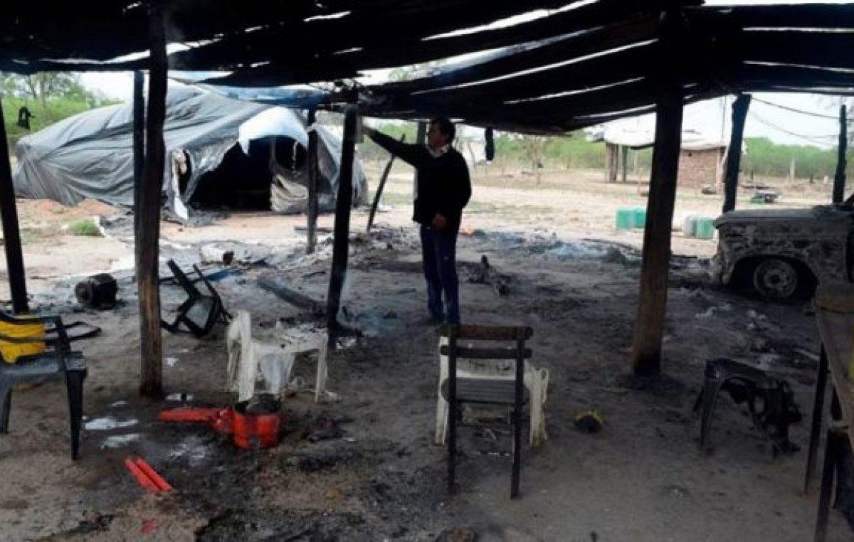 Atacaron a una comunidad aborigen en Santiago del Estero