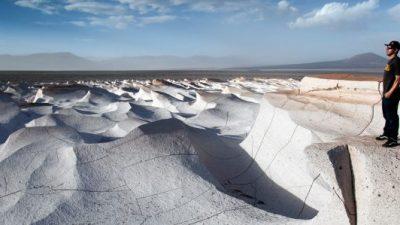 Un campo de piedra pómez en Catamarca
