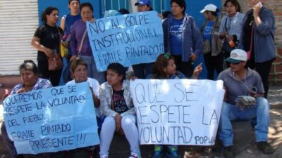 Nueva protesta de municipales de Fraile Pintado