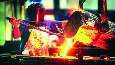 La producción de acero cayó casi un 20% en octubre