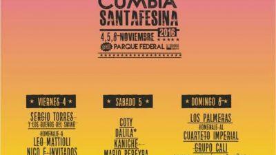 Primera Fiesta Nacional de la Cumbia Santafesina,4, 5 y 6 de noviembre