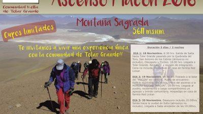 """En Tolar Grande se realizará el """"Ascenso a la Montaña Sagrada Macón"""""""