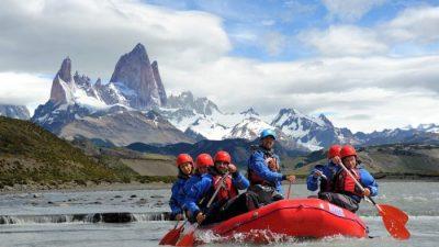 Una vuelta de rafting en El Chaltén