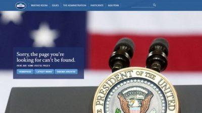 La Casa Blanca cerró su sitio web en español