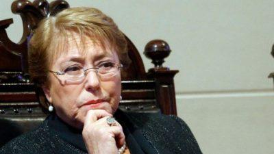 Bachelet alcanzó su mayor nivel de desaprobación